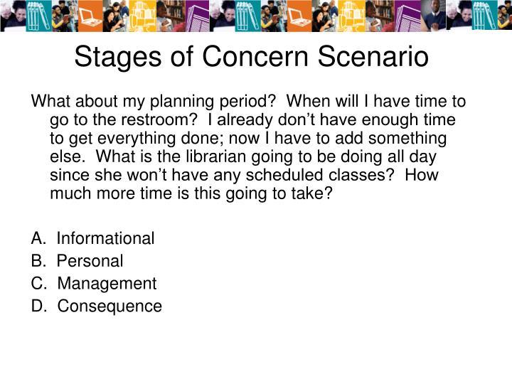Stages of Concern Scenario