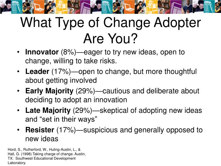 What type of change adopter are you