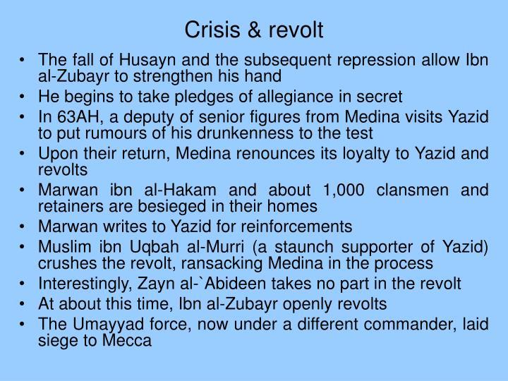 Crisis & revolt