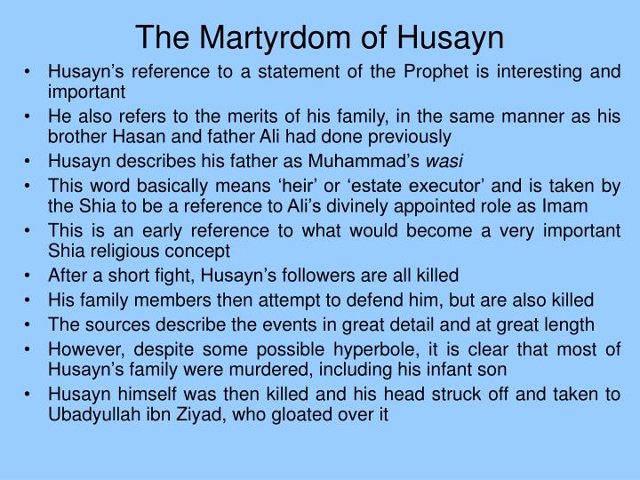 The Martyrdom of Husayn