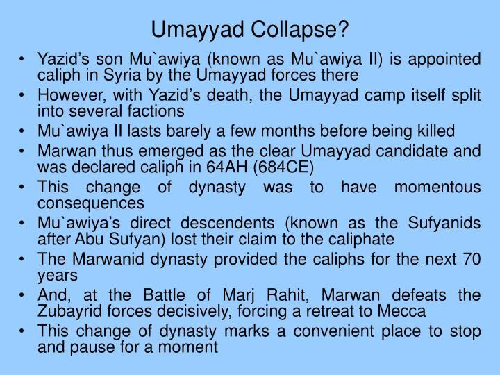 Umayyad Collapse?