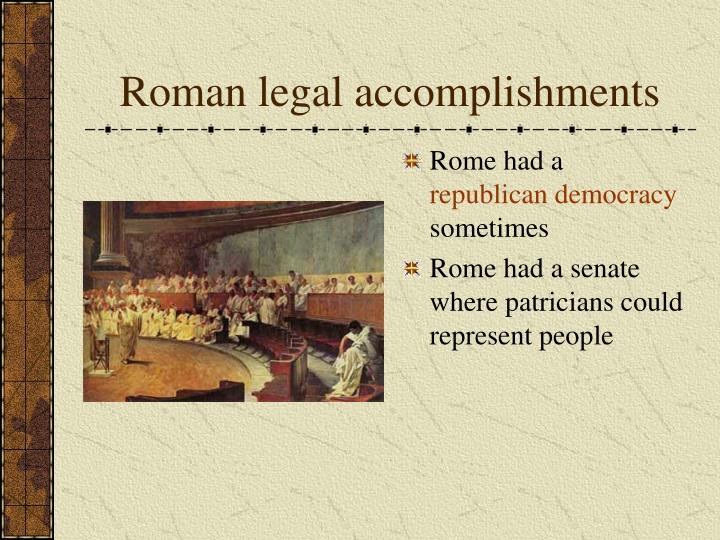 Roman legal accomplishments