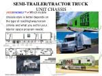 semi trailer tractor truck unit chassis