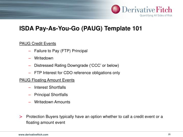 ISDA Pay-As-You-Go (PAUG) Template 101