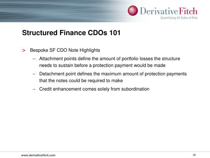 Structured Finance CDOs 101
