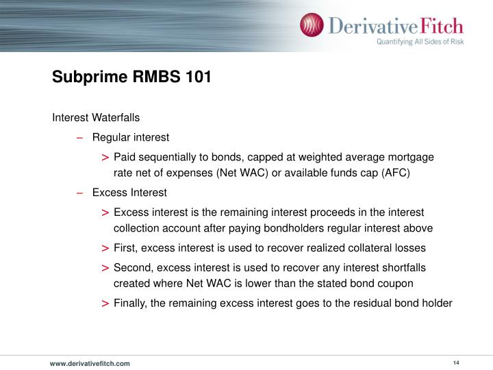 Subprime RMBS 101