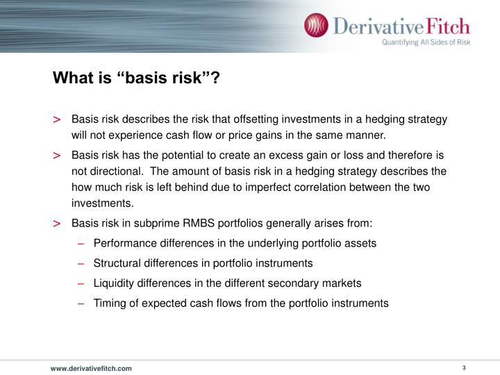 """What is """"basis risk""""?"""