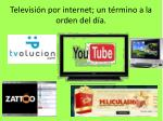 televisi n por internet un t rmino a la orden del d a
