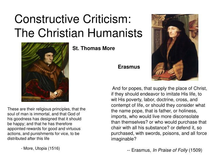 Constructive Criticism: