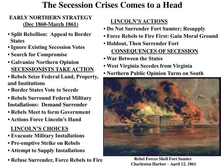 The Secession Crises Comes to a Head