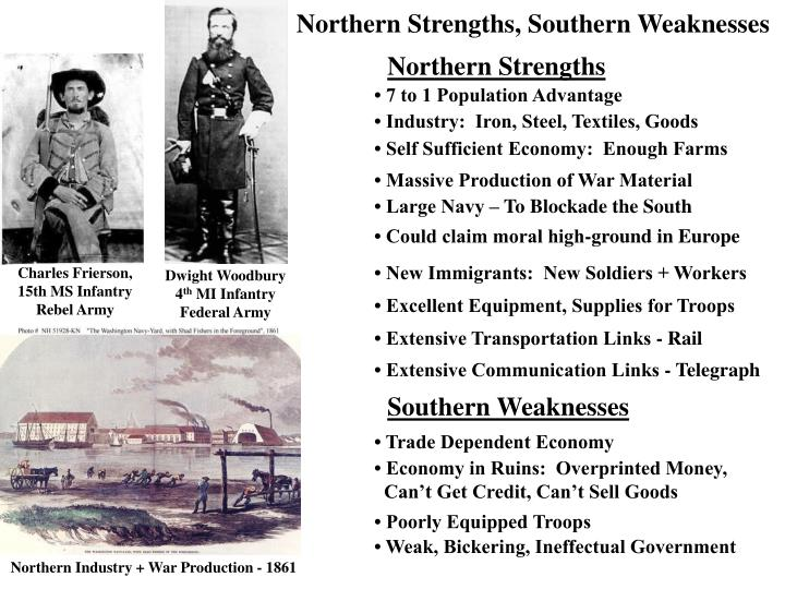 Northern Strengths, Southern Weaknesses