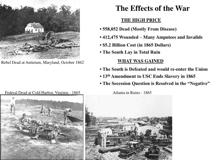 The Effects of the War