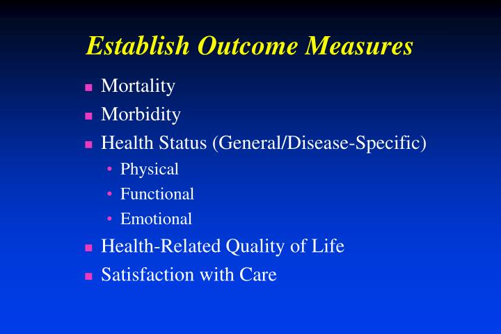 Establish Outcome Measures