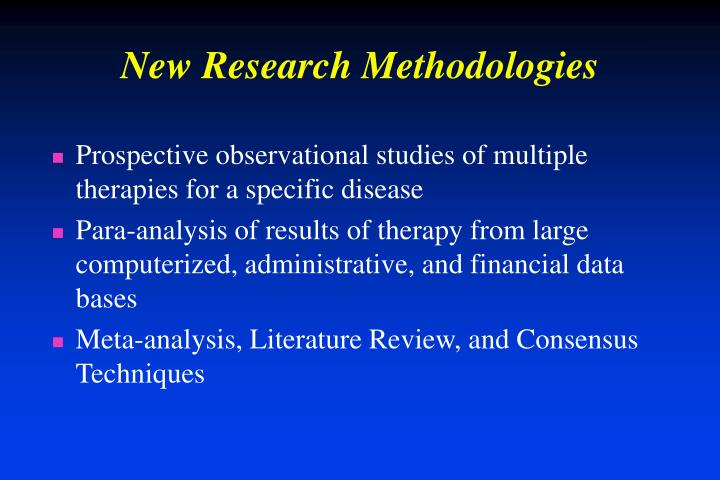 New Research Methodologies