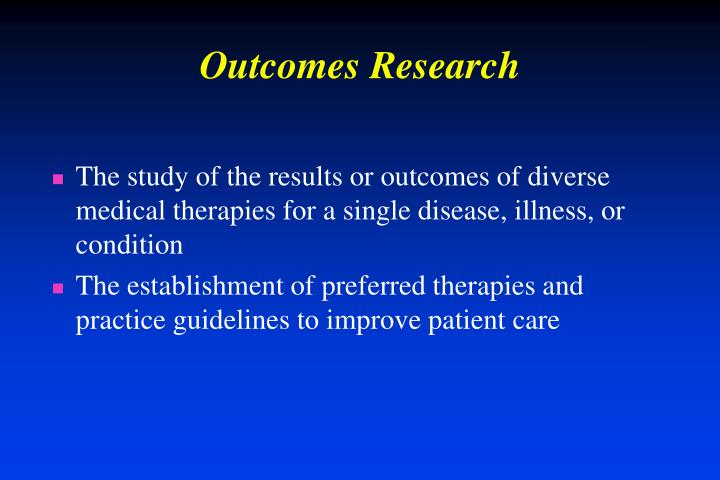 Outcomes research1