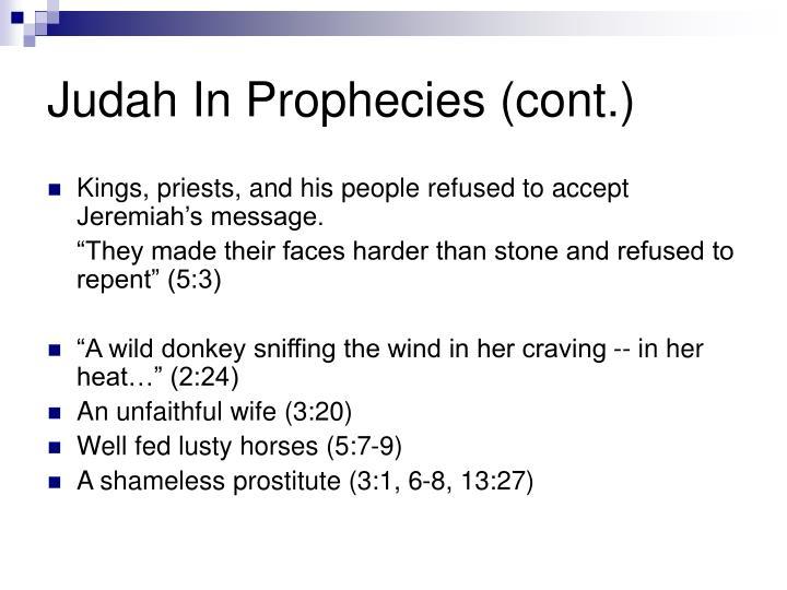 Judah In Prophecies (cont.)