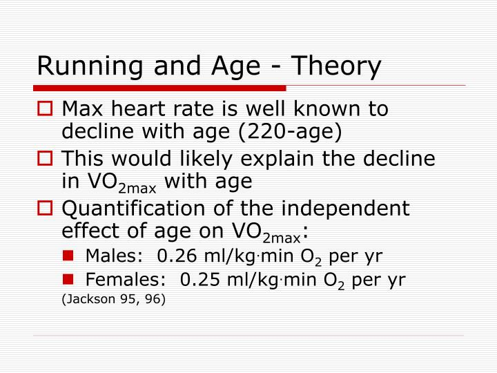 Running and Age - Theory