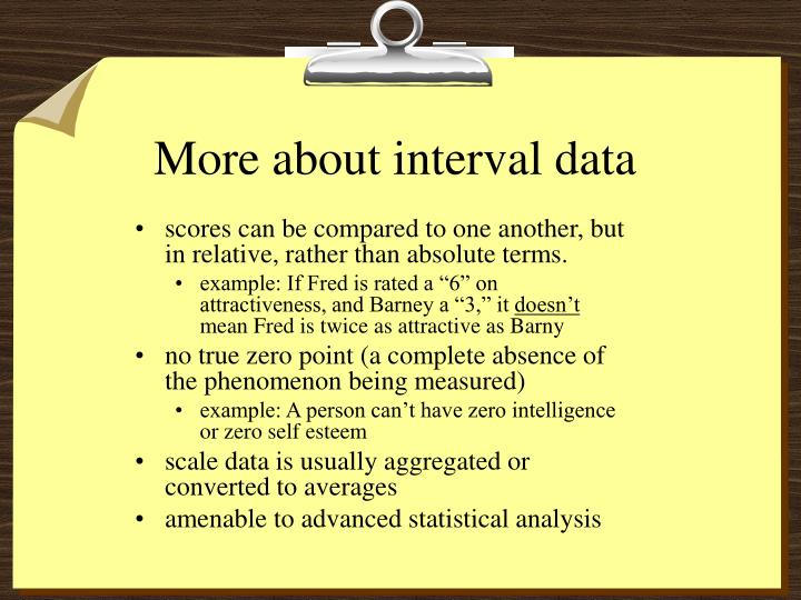 More about interval data