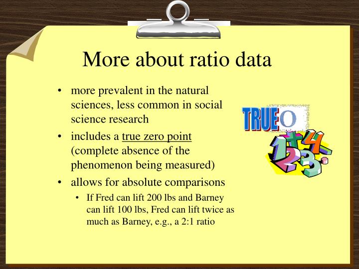 More about ratio data