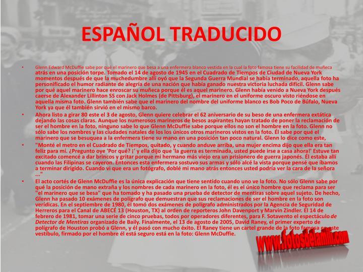 ESPAÑOL TRADUCIDO