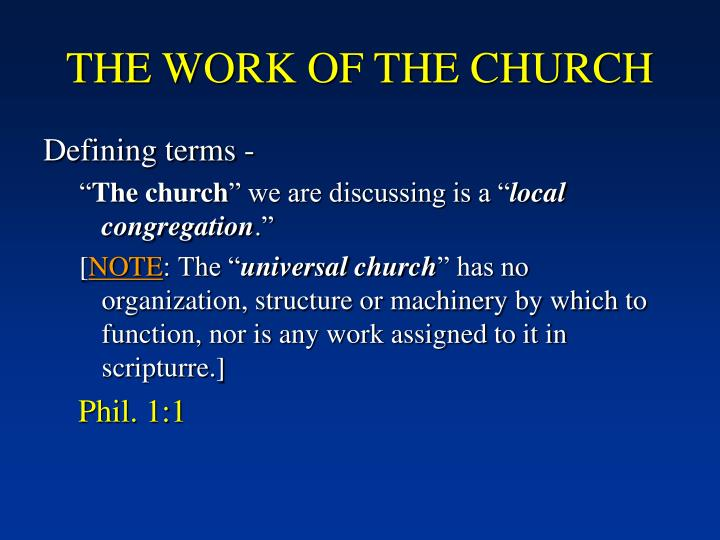 The work of the church1