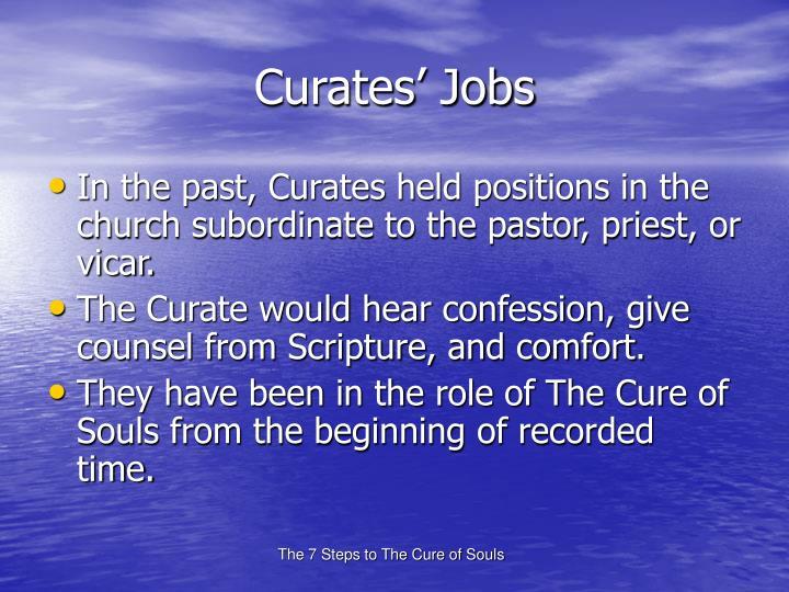 Curates' Jobs