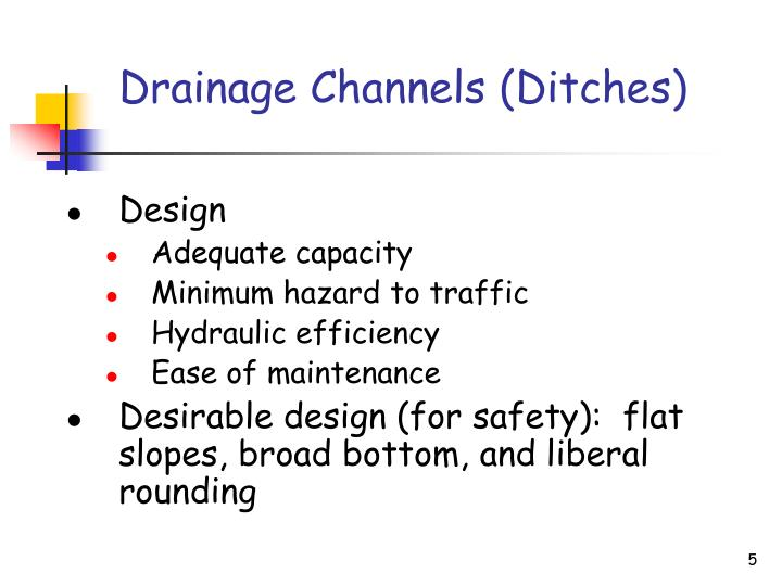 Drainage Channels (Ditches)