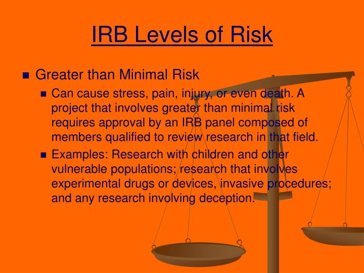 IRB Levels of Risk
