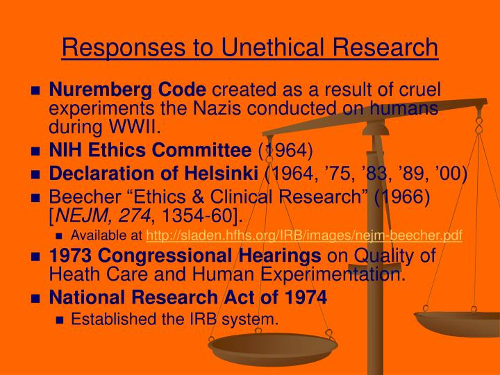Responses to Unethical Research
