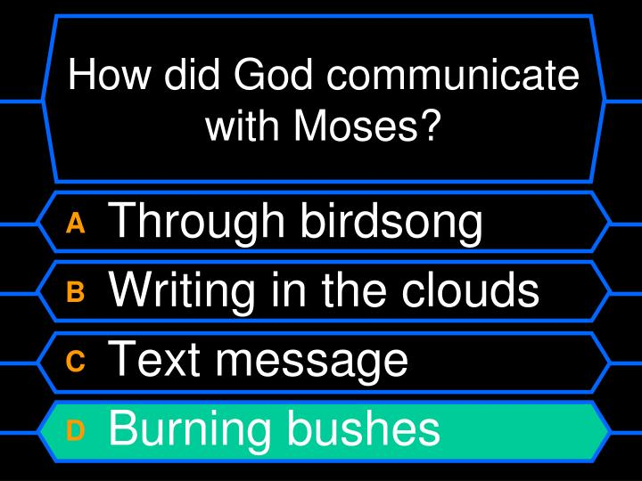 How did God communicate with Moses?