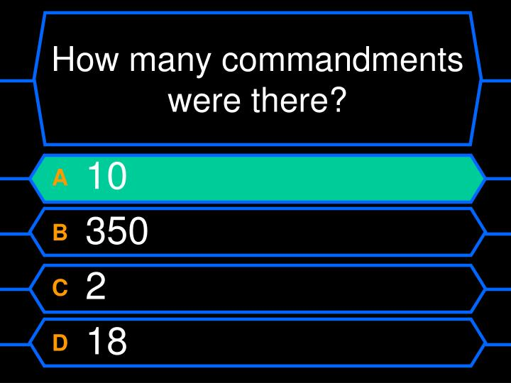 How many commandments were there?