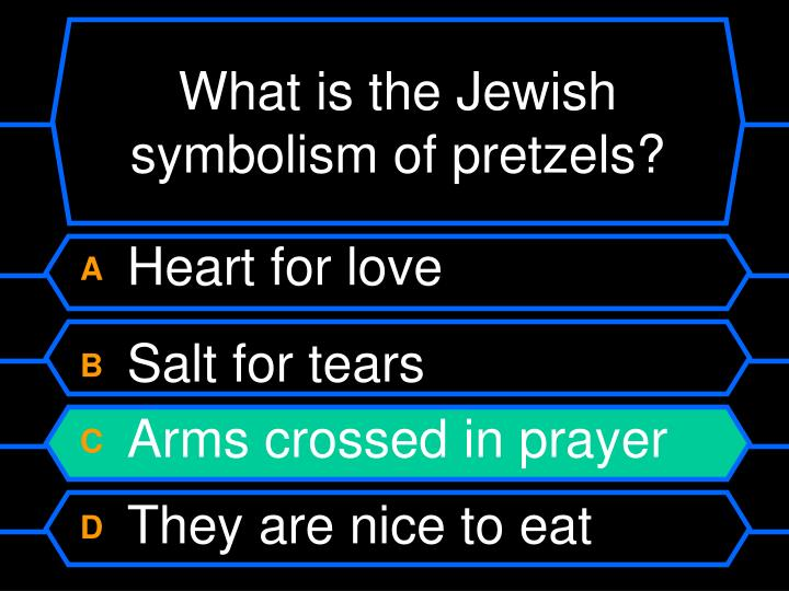 What is the Jewish symbolism of pretzels?