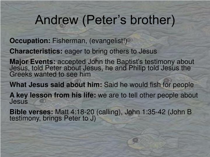 Andrew (Peter's brother)