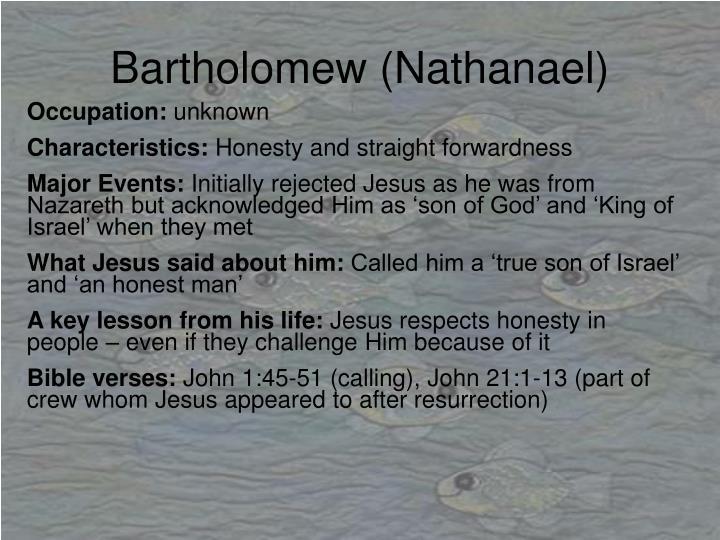 Bartholomew (Nathanael)