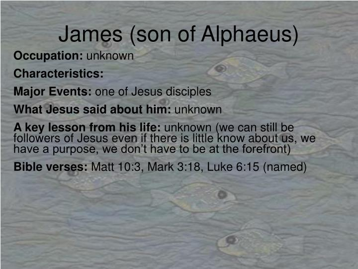 James (son of Alphaeus)