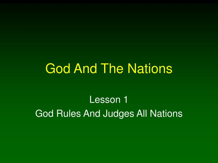 god and the nations n.