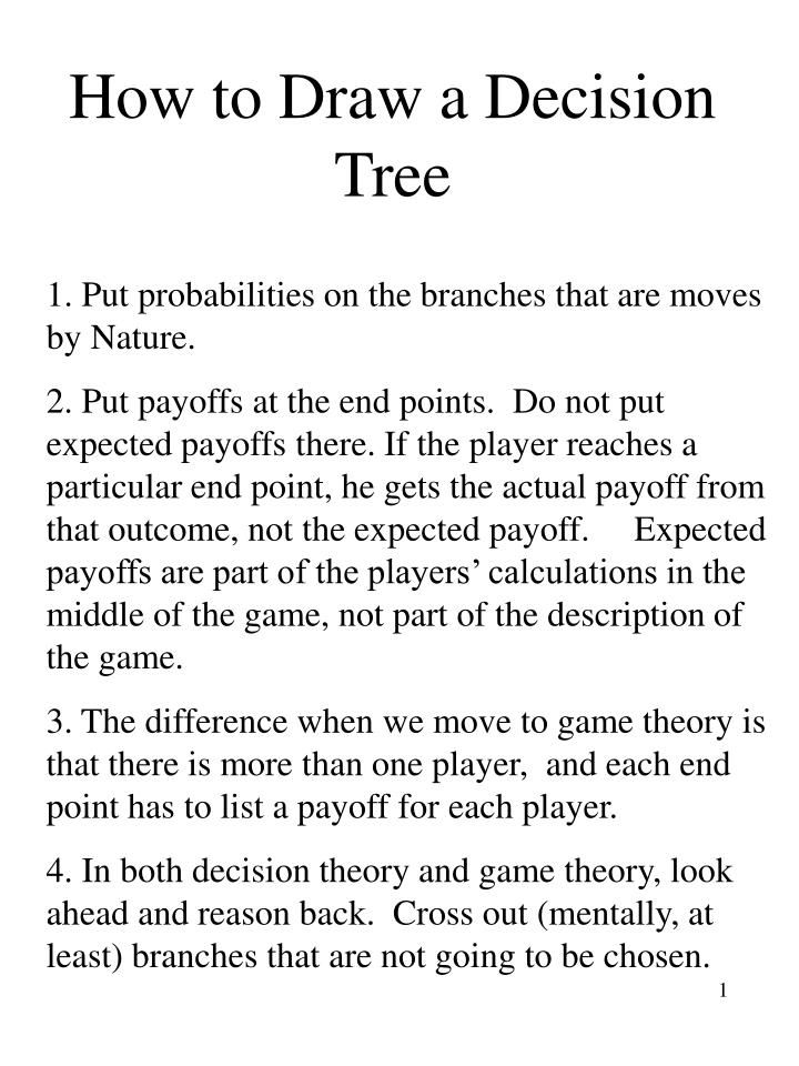 how to draw a decision tree n.