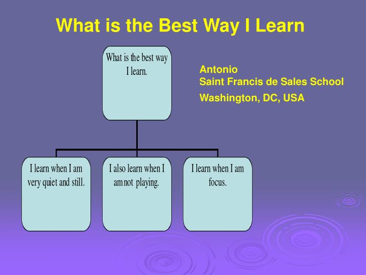What is the Best Way I Learn