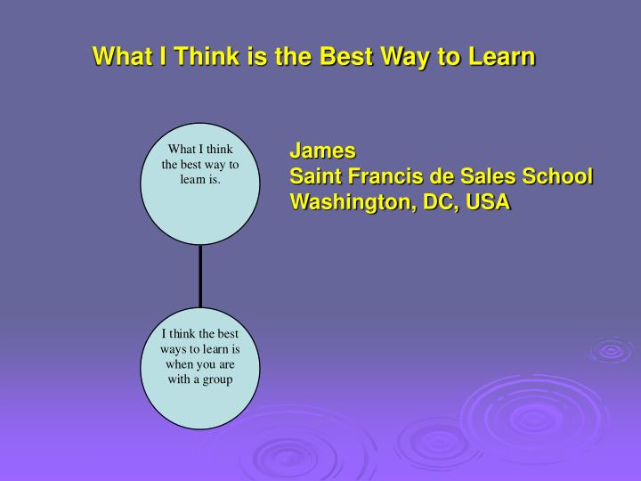 What I Think is the Best Way to Learn