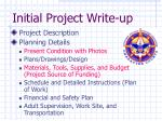 initial project write up