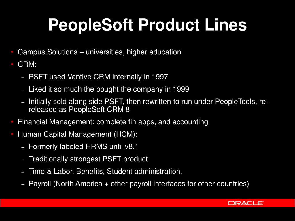 PPT - PeopleSoft for the Oracle DBA Mark Riley Technical