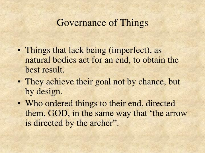 Governance of Things