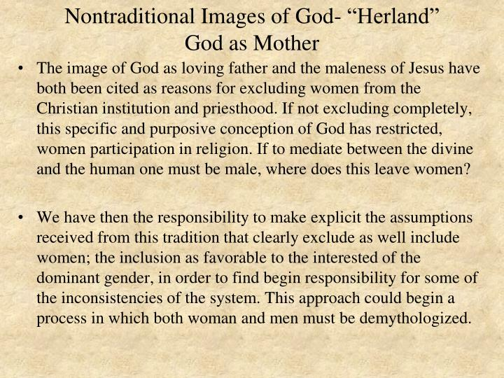 """Nontraditional Images of God- """"Herland"""""""