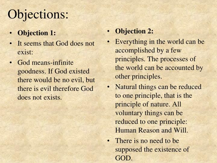 Objection 1: