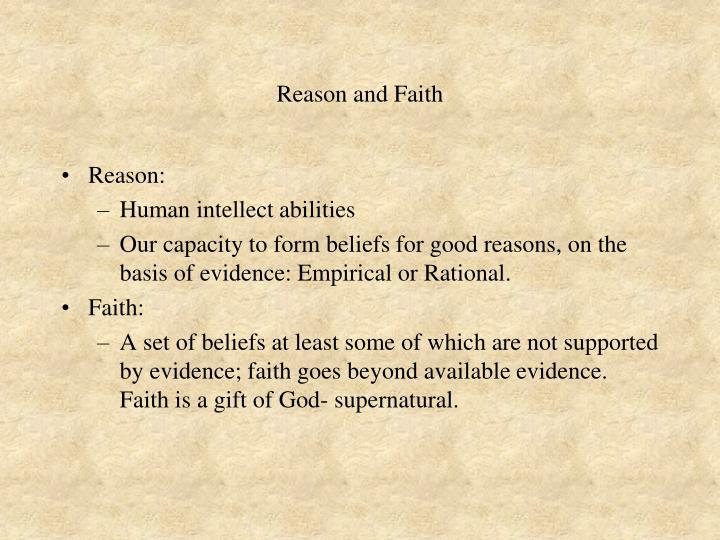 Reason and Faith