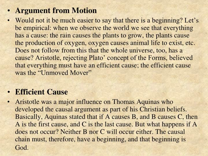 Argument from Motion
