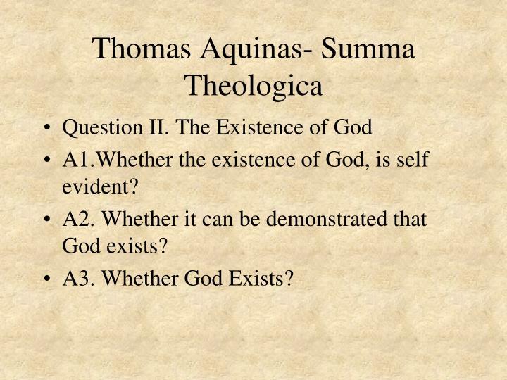 Thomas Aquinas- Summa Theologica