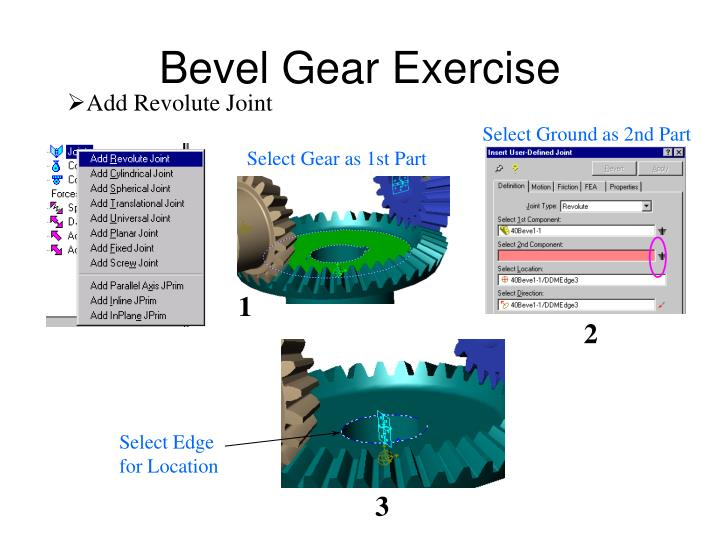 Select Gear as 1st Part