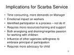 implications for scarba service