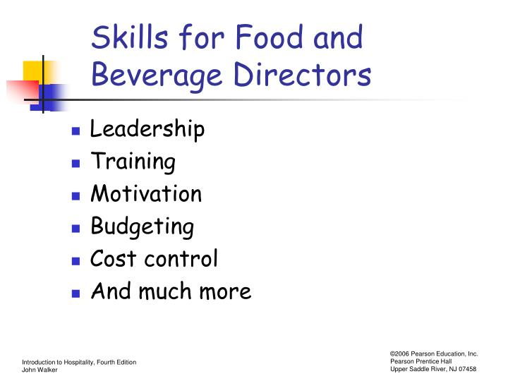 Skills for Food and Beverage Directors